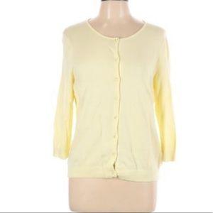 Spring yellow pastel plus size cardigan sweater 2X